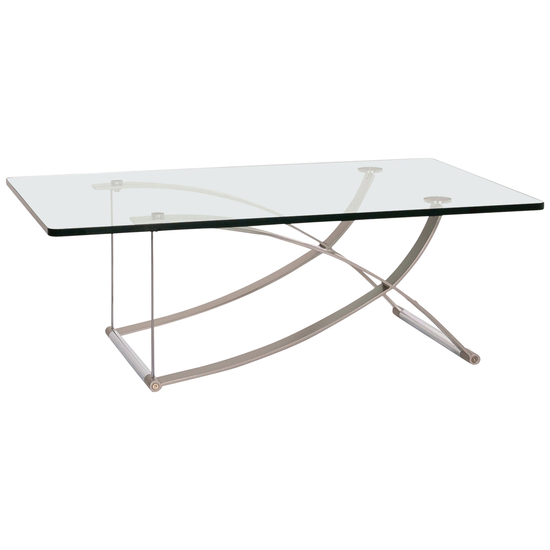 Rolf Benz RB 1150 Glass Coffee Table Metal Table