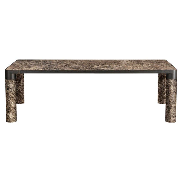 Ghidini 1961 Bold Small Table in Emperador Marble Top & Black Gold, E.Giovannoni