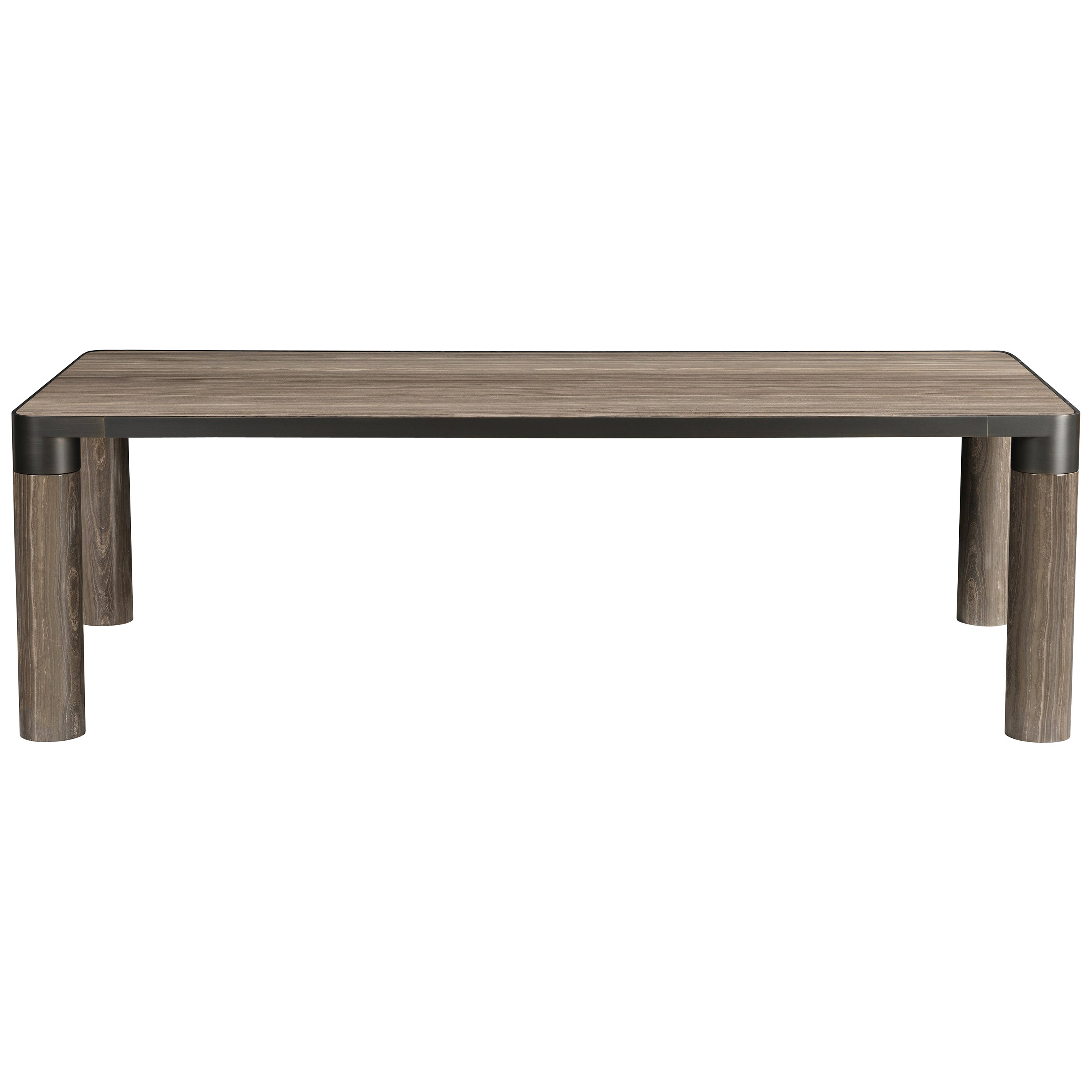 Ghidini 1961 Bold Medium Table in Eramosa Marble Top & Black Gold, E.Giovannoni
