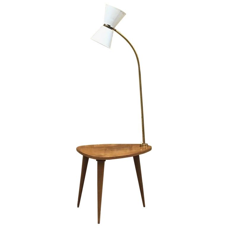 1950s French Floor Lamp/1950s Standing Lamp