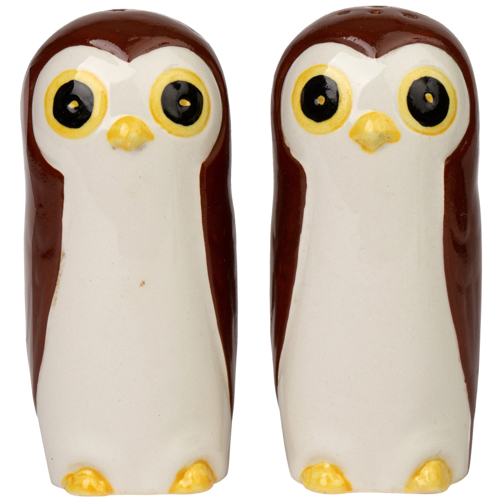 Carltonware Novelty Pottery Owl Cruet Set