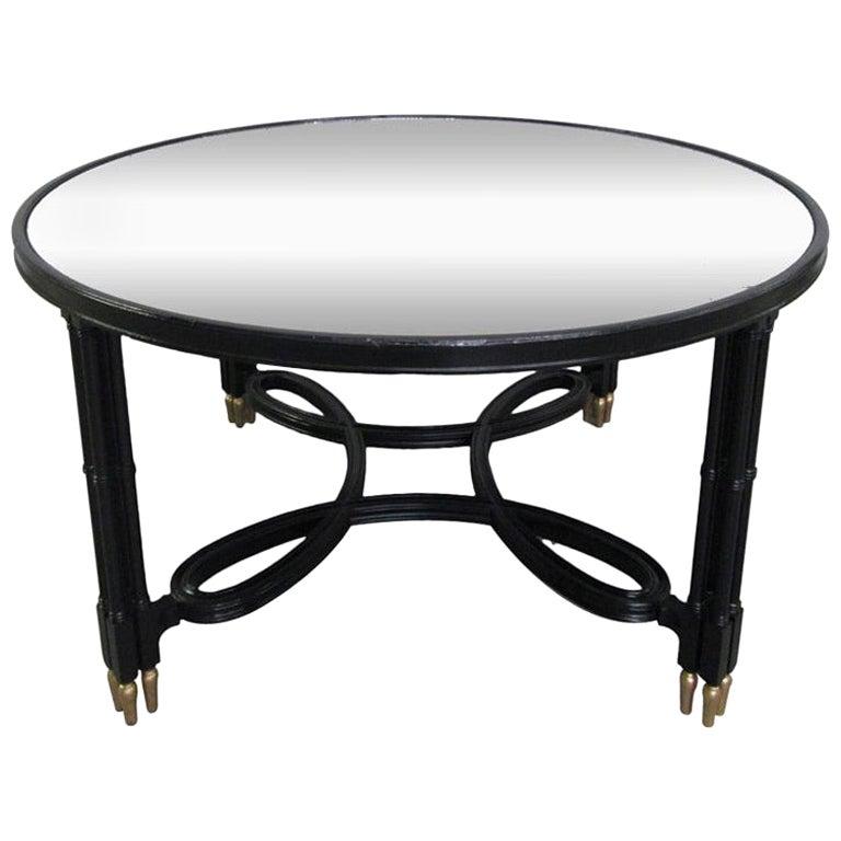 Maison Jansen Style Mirrored Top Coffee Table