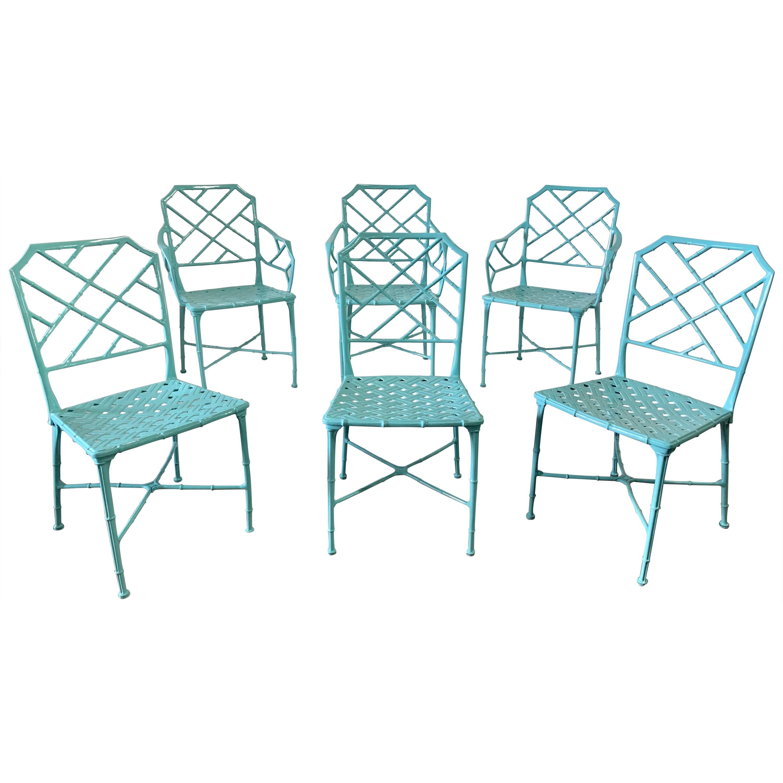 "Set of Hall Bradley ""Calcutta"" Dining Patio Chairs for Brown Jordan, 1967"