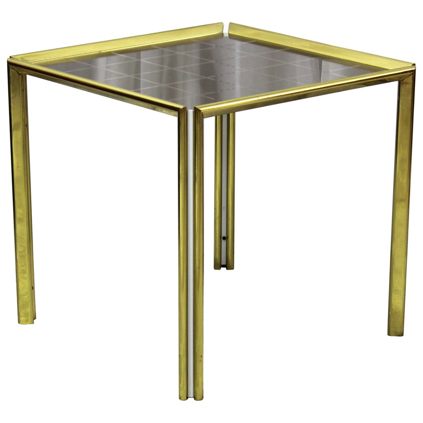 Italian Vintage Golden ROD Coffee Table, 1970s