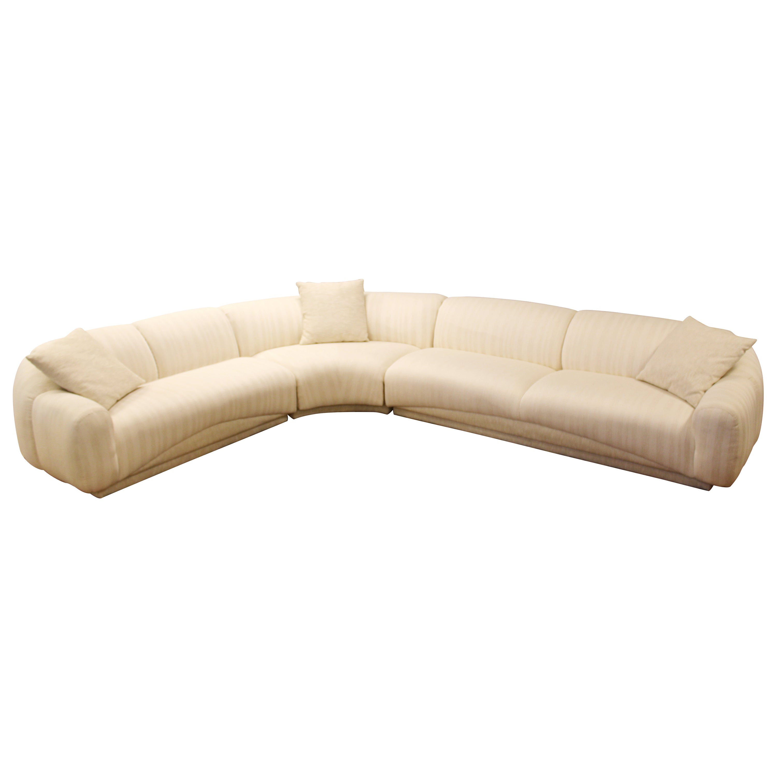 Contemporary Modern Sculptural Serpentine Sofa Sectional Kagan Style 1980s