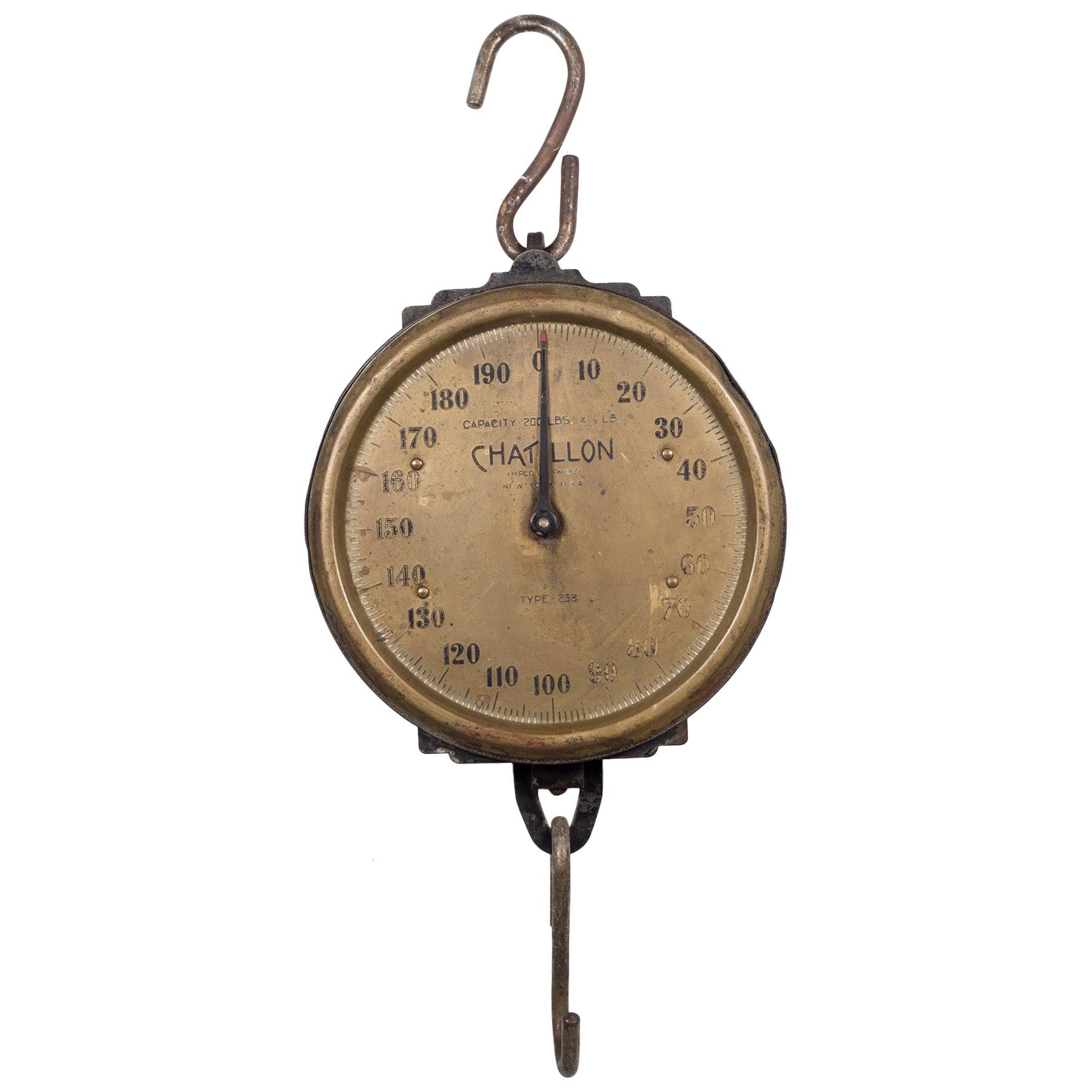 Antique Brass Milk Scale, circa 1920s