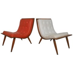 Midcentury Bentwood Scoop Chairs by Carter Brothers
