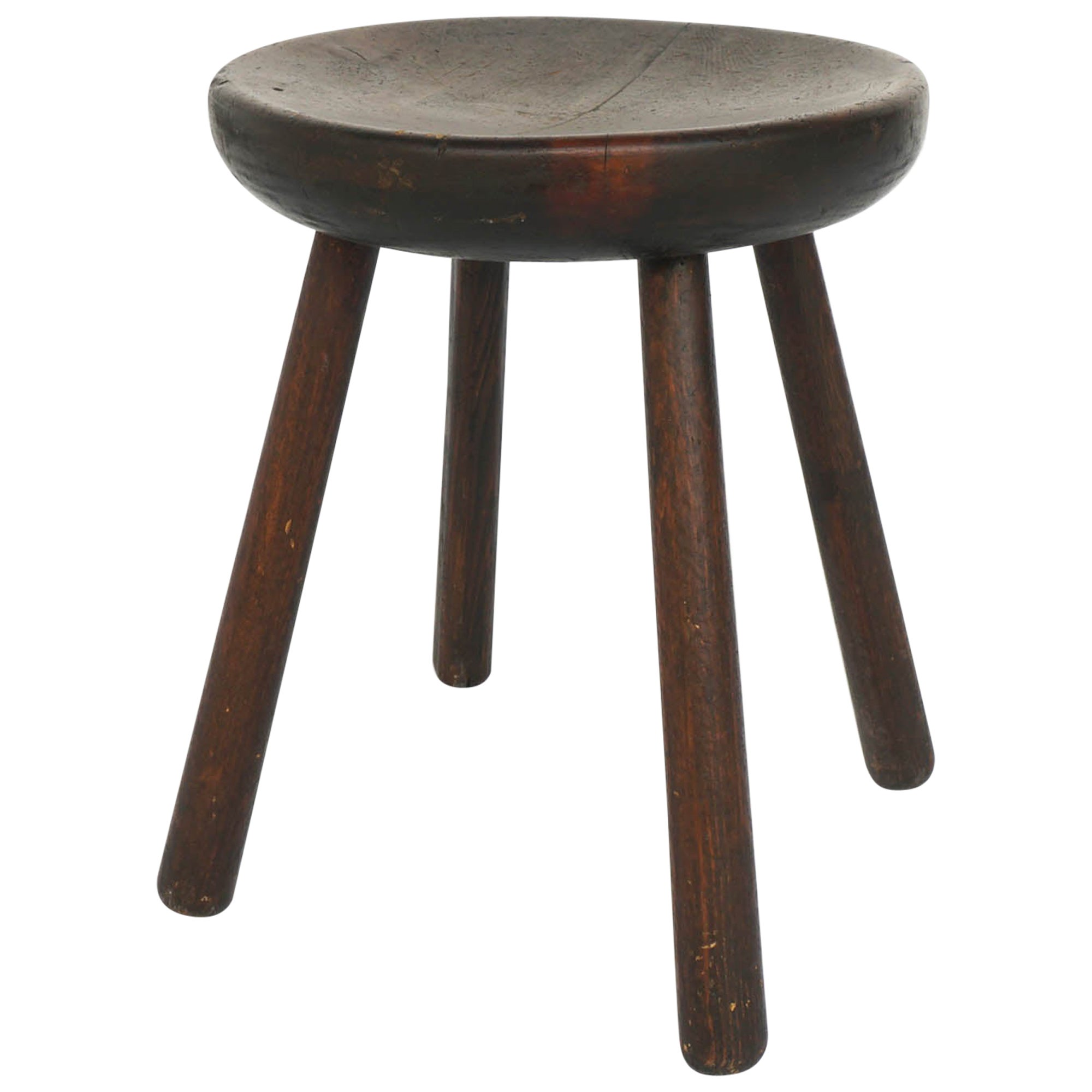 """Charlotte Perriand Stool """"Marteau"""" from Les Arcs Resort, France, Late 1960"""