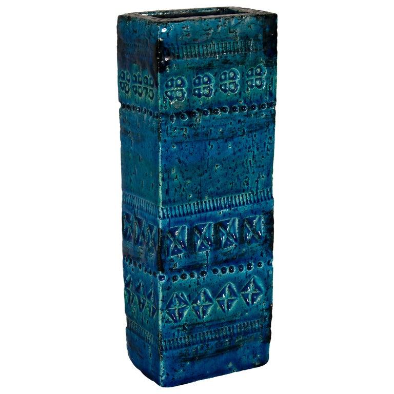 Vase from Rimini Blue Series, Aldo Londi for Bitossi, 1960s