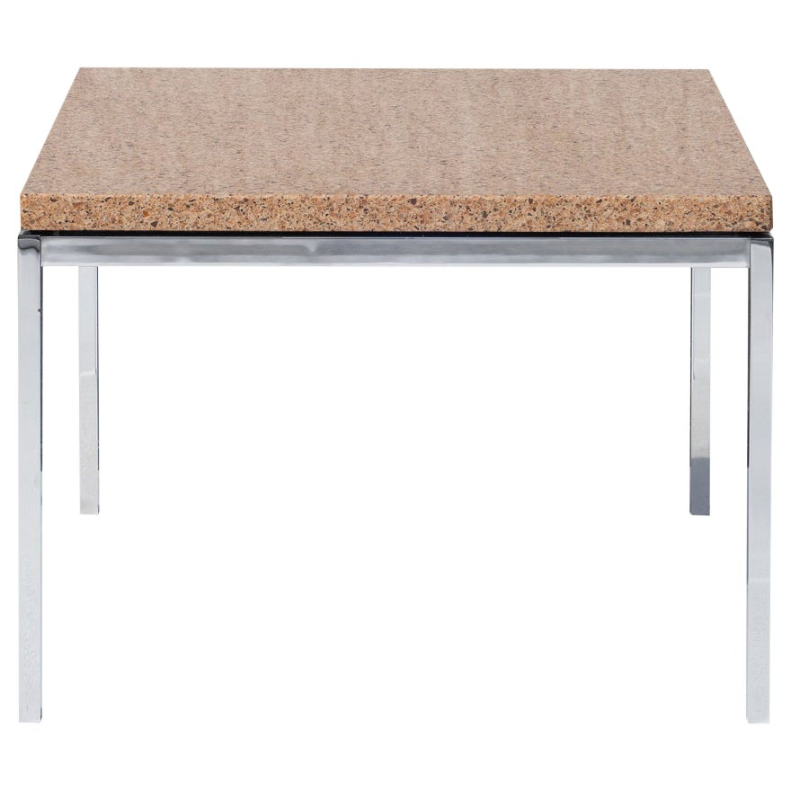 Florence Knoll Coffee Side Table in Brown Marble