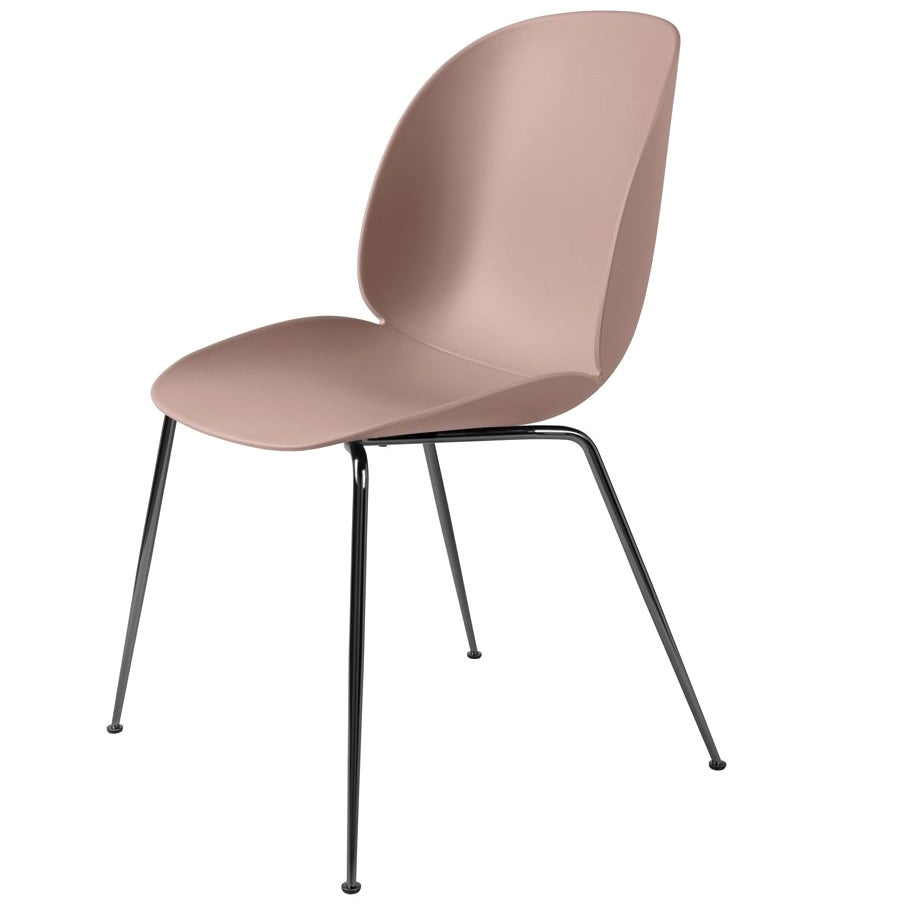GamFratesi 'Beetle' Dining Chair with Black Chrome Conic Base