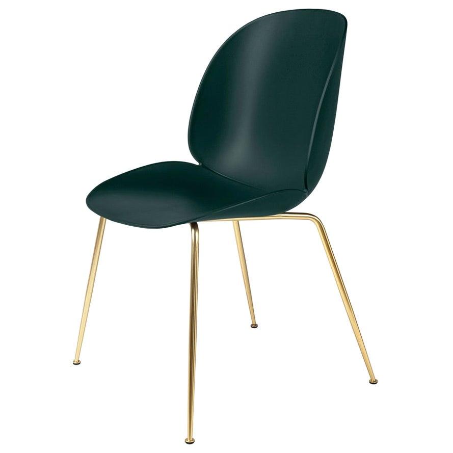 GamFratesi 'Beetle' Dining Chair with Brass Conic Base