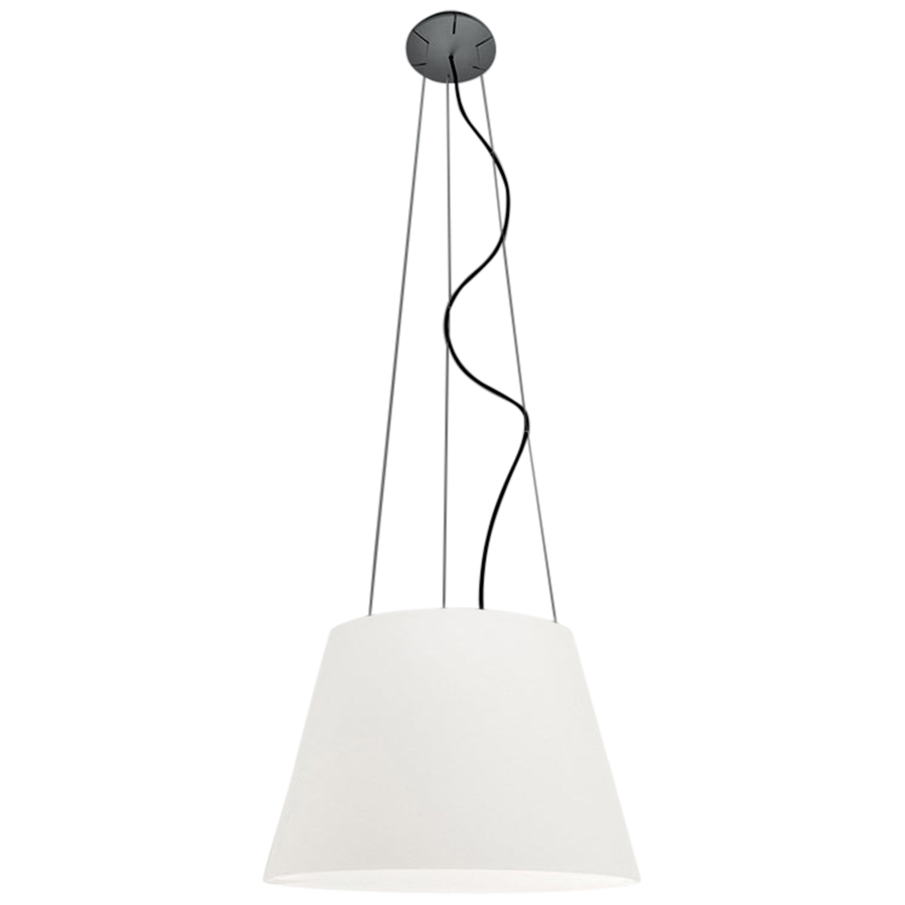 Artemide Tolomeo Mega Outdoor Suspension Lamp in White by De Lucchi, Fassina