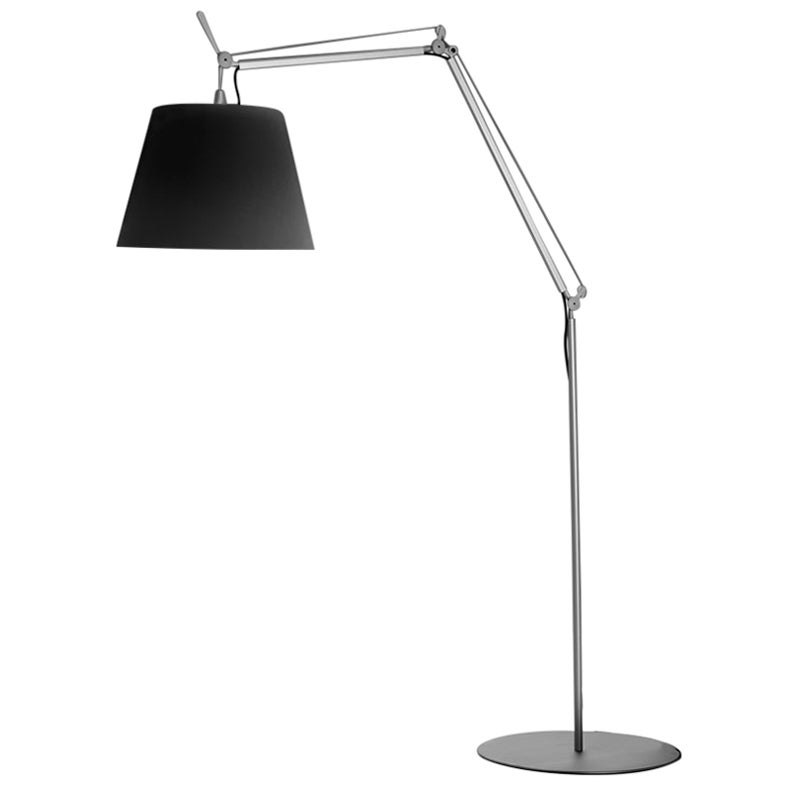 Artemide Tolomeo Mega Outdoor Floor Lamp in Black by De Lucchi, Fassina
