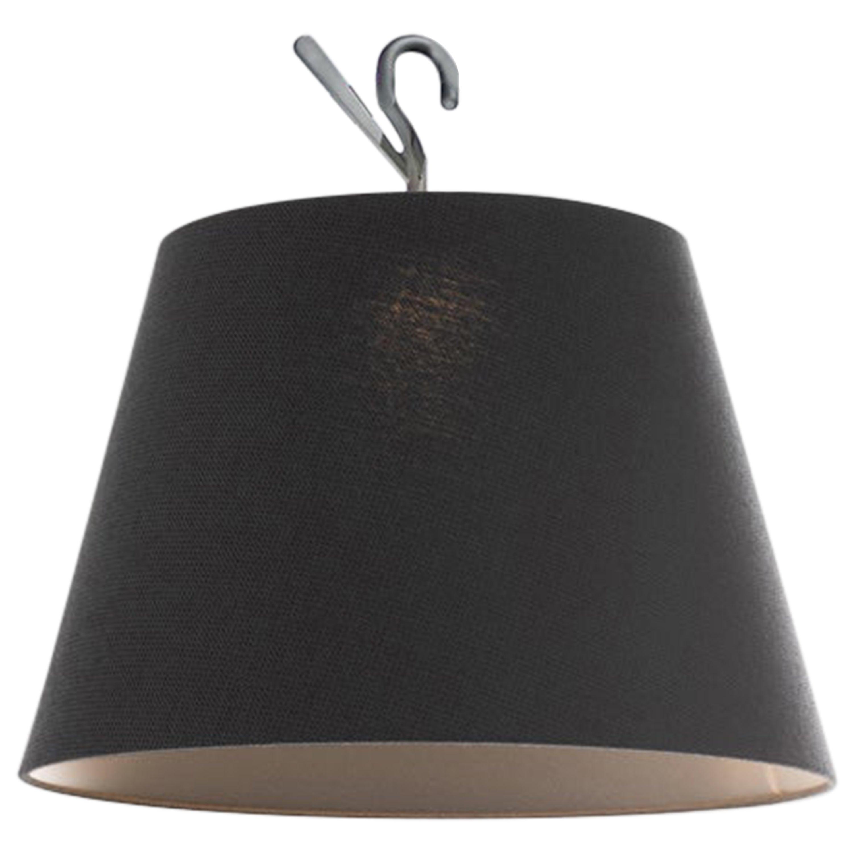 Artemide Tolomeo Hook Lamp in Weave Black by Michele De Lucchi, Giancarlo