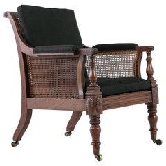 Early 19th Century English Mahogany Library Chair
