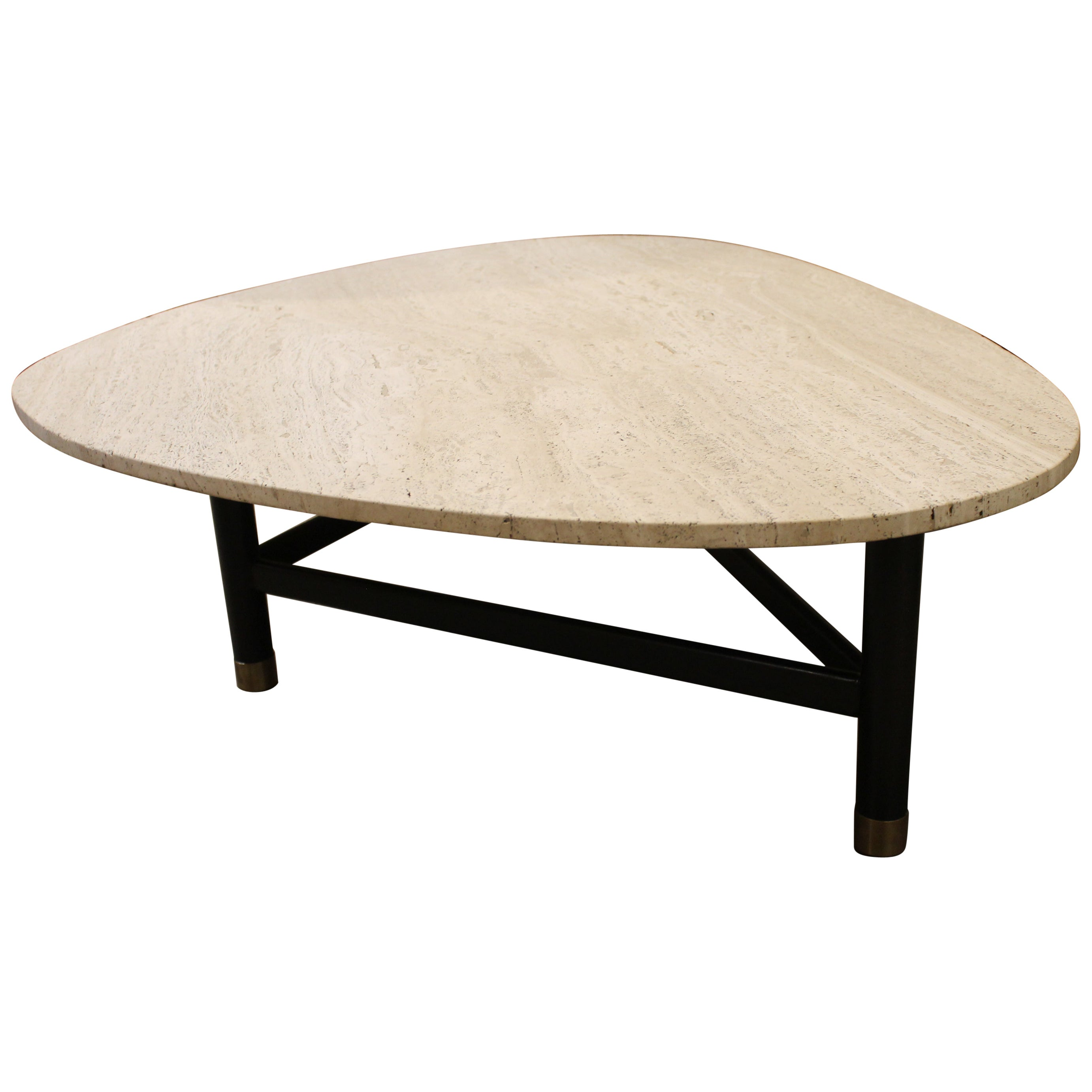 Harvey Probber Coffee Table with Travertine Top