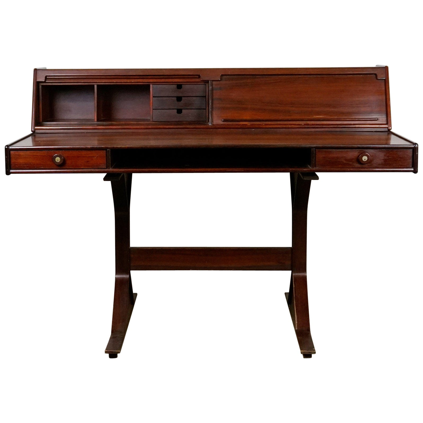Italian Midcentury Rosewood Desk Mod. 530 by Gianfranco Frattini for Bernini