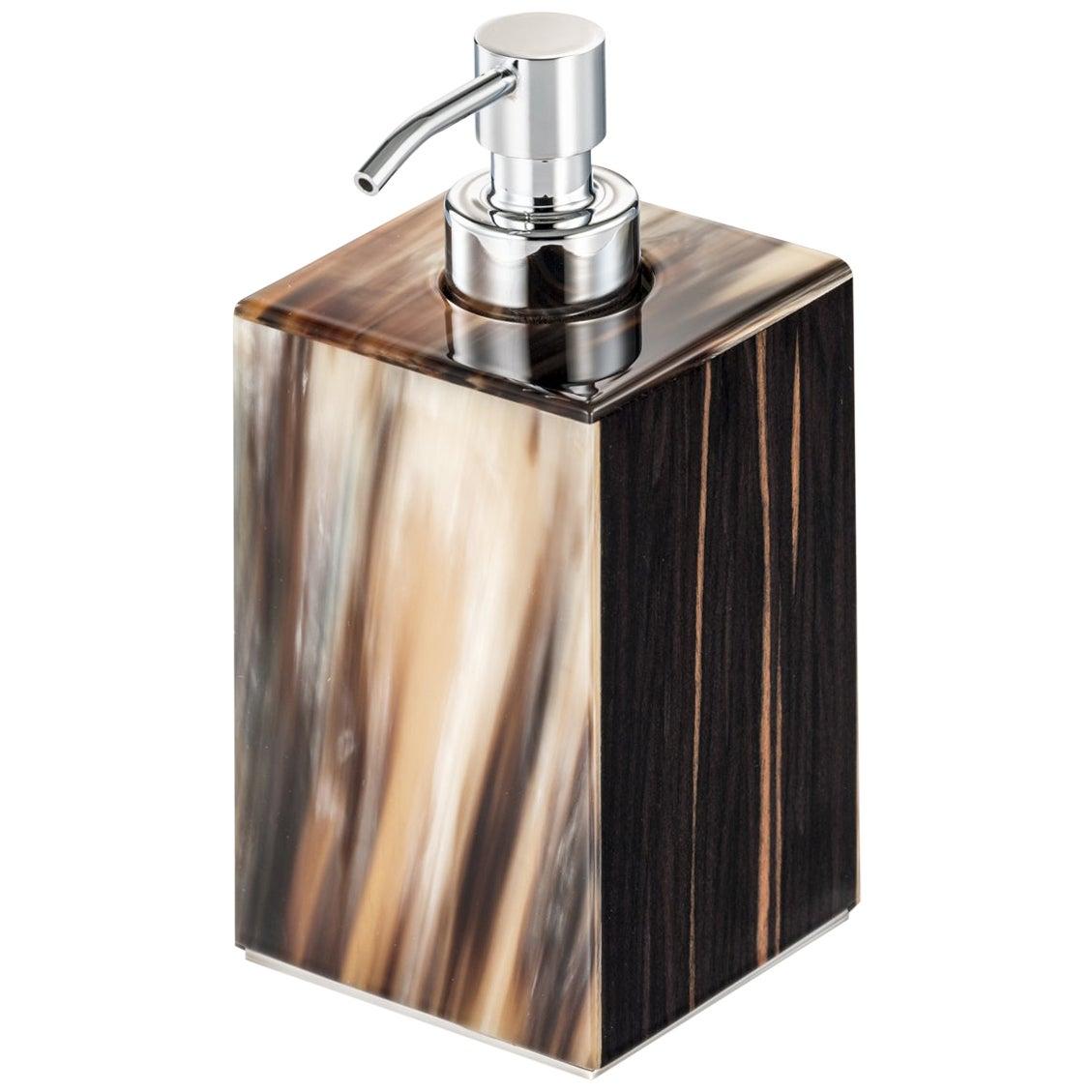 Iris Soap Dispenser in Glossy Ebony with Corno Italiano Inlays Mod. 4771