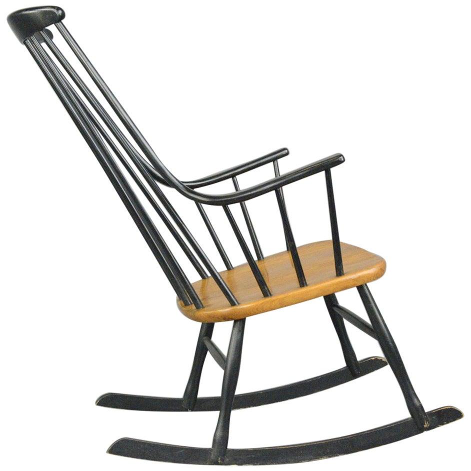 Midcentury Rocking Chair by Ilmari Tapiovaara