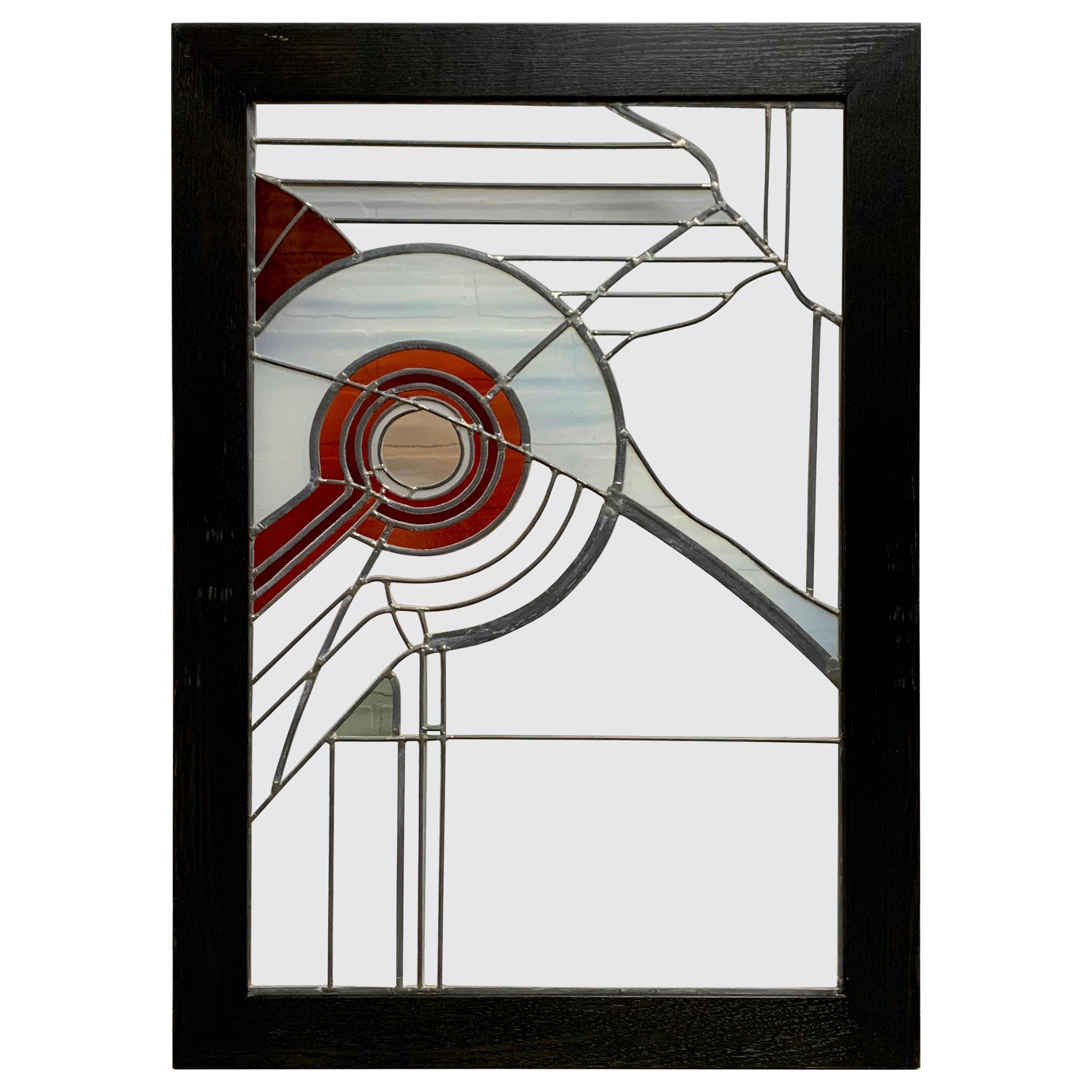 Abstract Leaded Glass Window