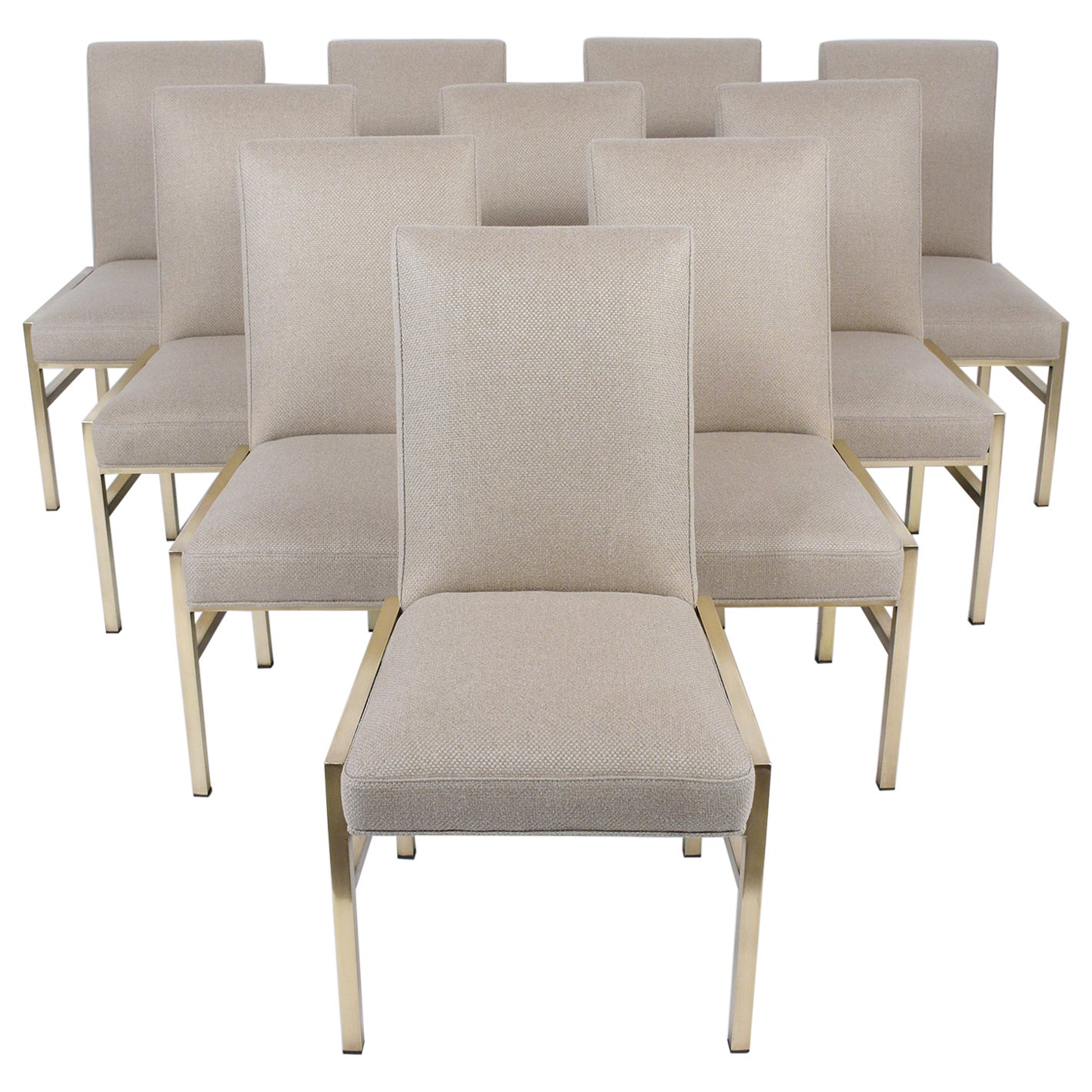 Set of Ten Midcentury Dining Chairs