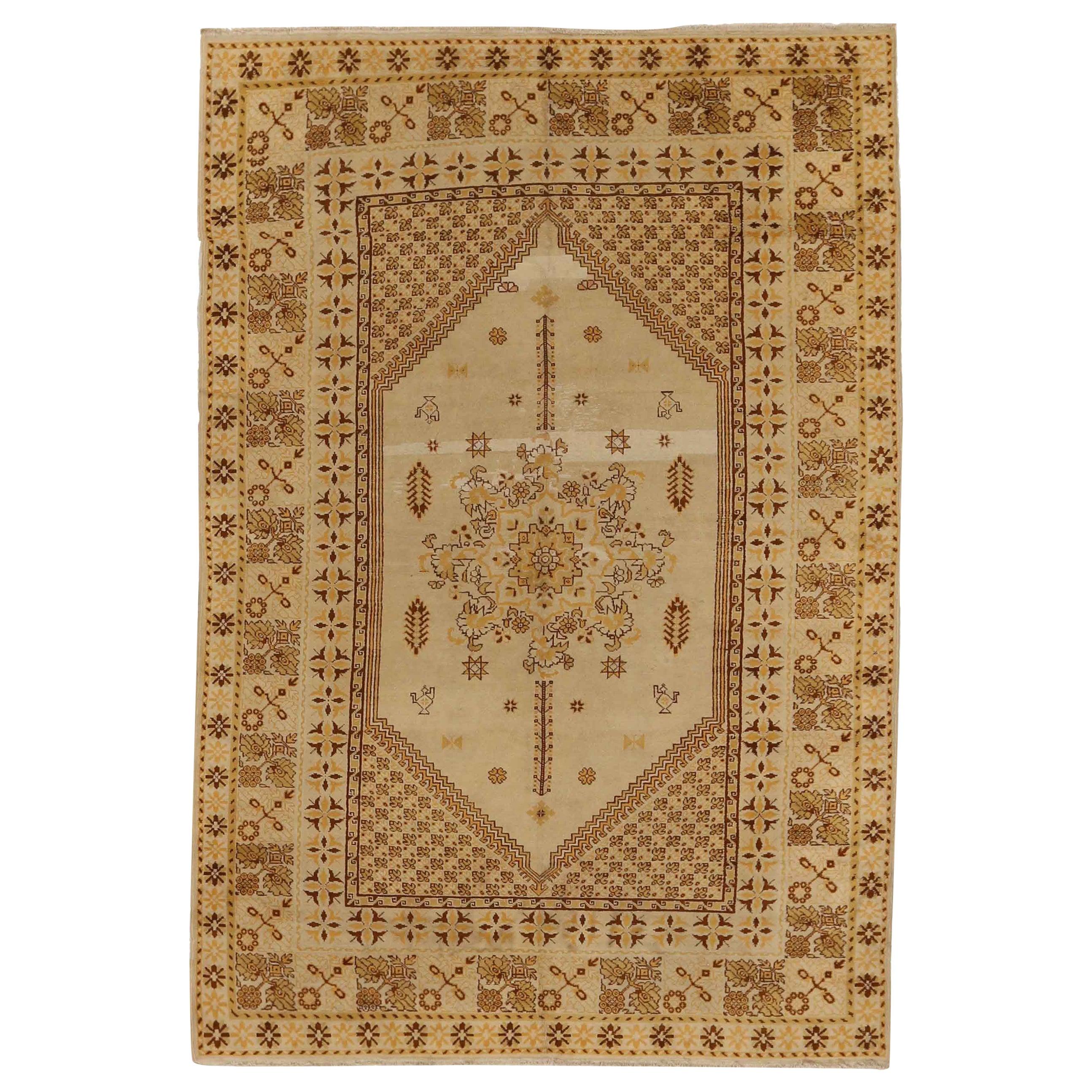 Antique Russian Area Rug Samarkand Design