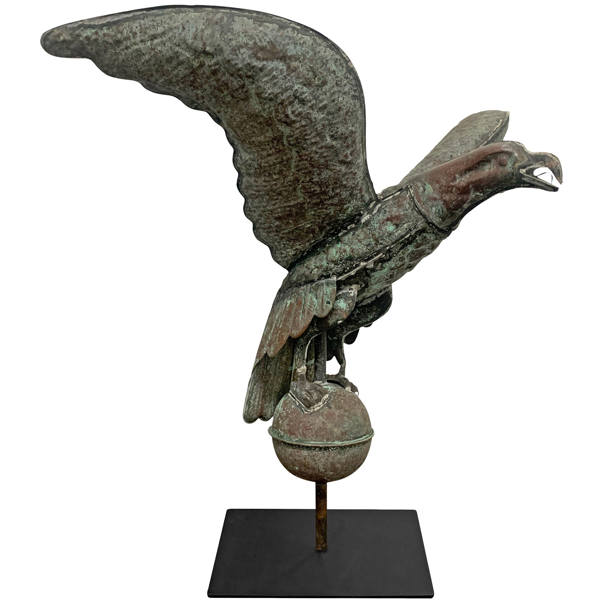 Vintage American Copper Eagle Weathervane