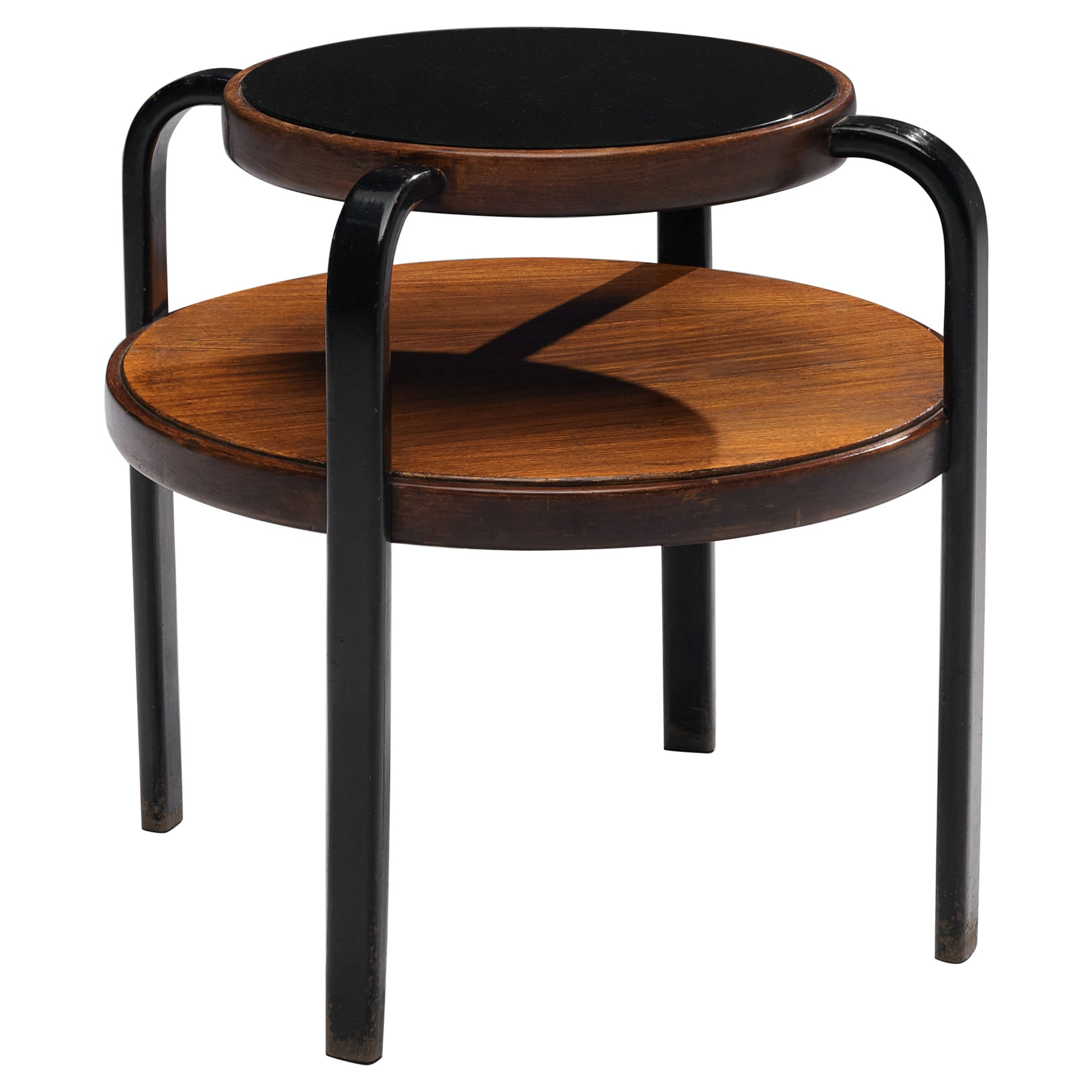 Italian Coffee Table with Two Round Trays