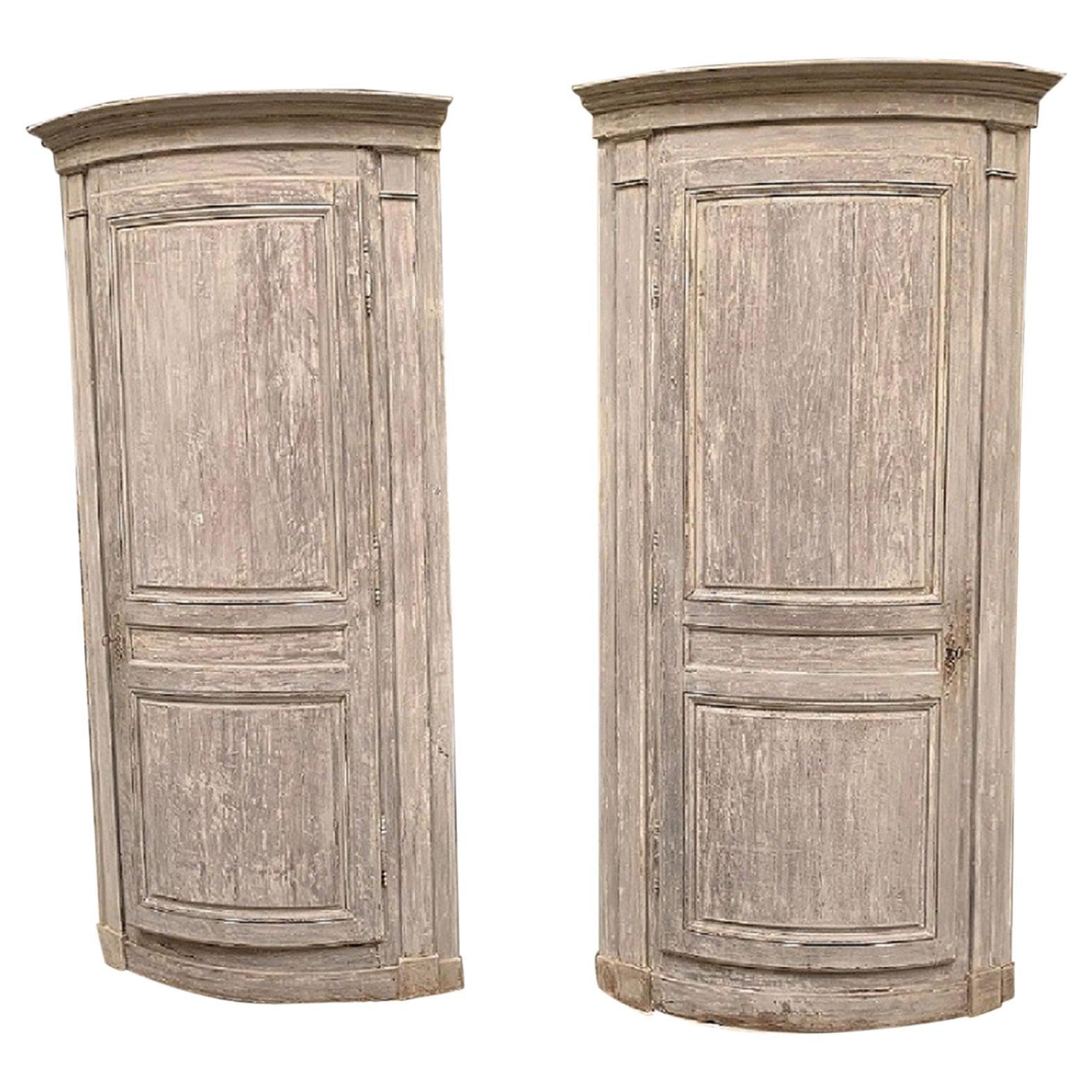 Pair of 18th Century Corner Cupboards