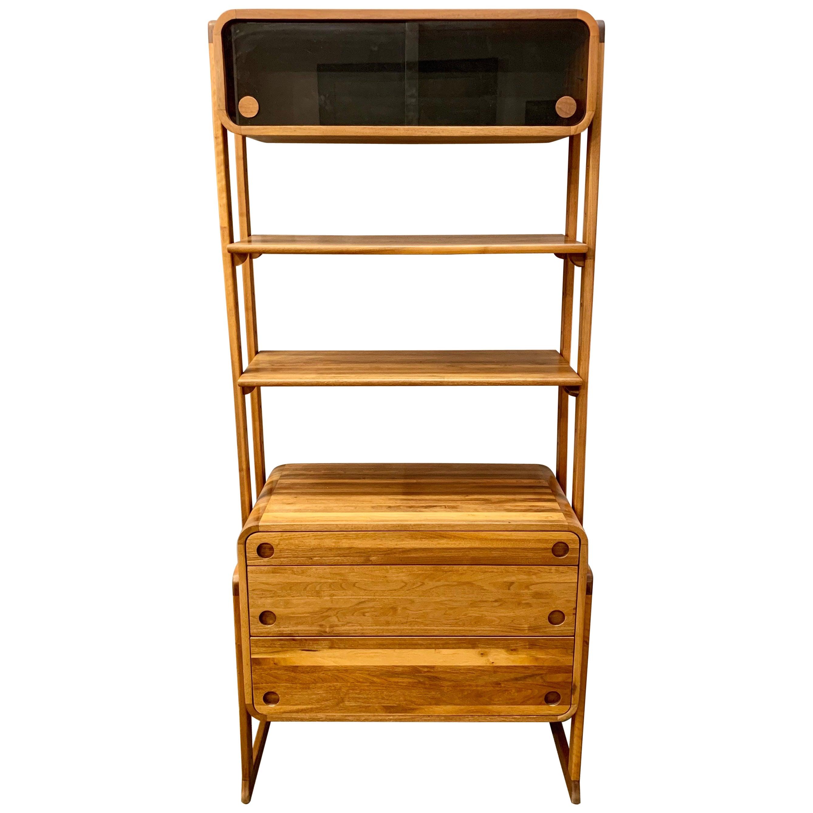 Danish Mid-Century Modern Étagère Bookshelf Cabinet Credenza