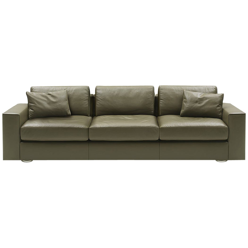 De Sede Ds-247 Three-Seat Sofa in Olive Upholstery by Gordon Guillaumier