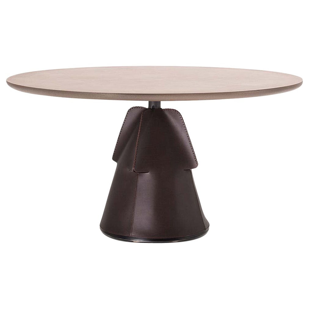 De Sede DS 615/92A Small Dining Table in Metal Brass Top by Mario Ferrarini