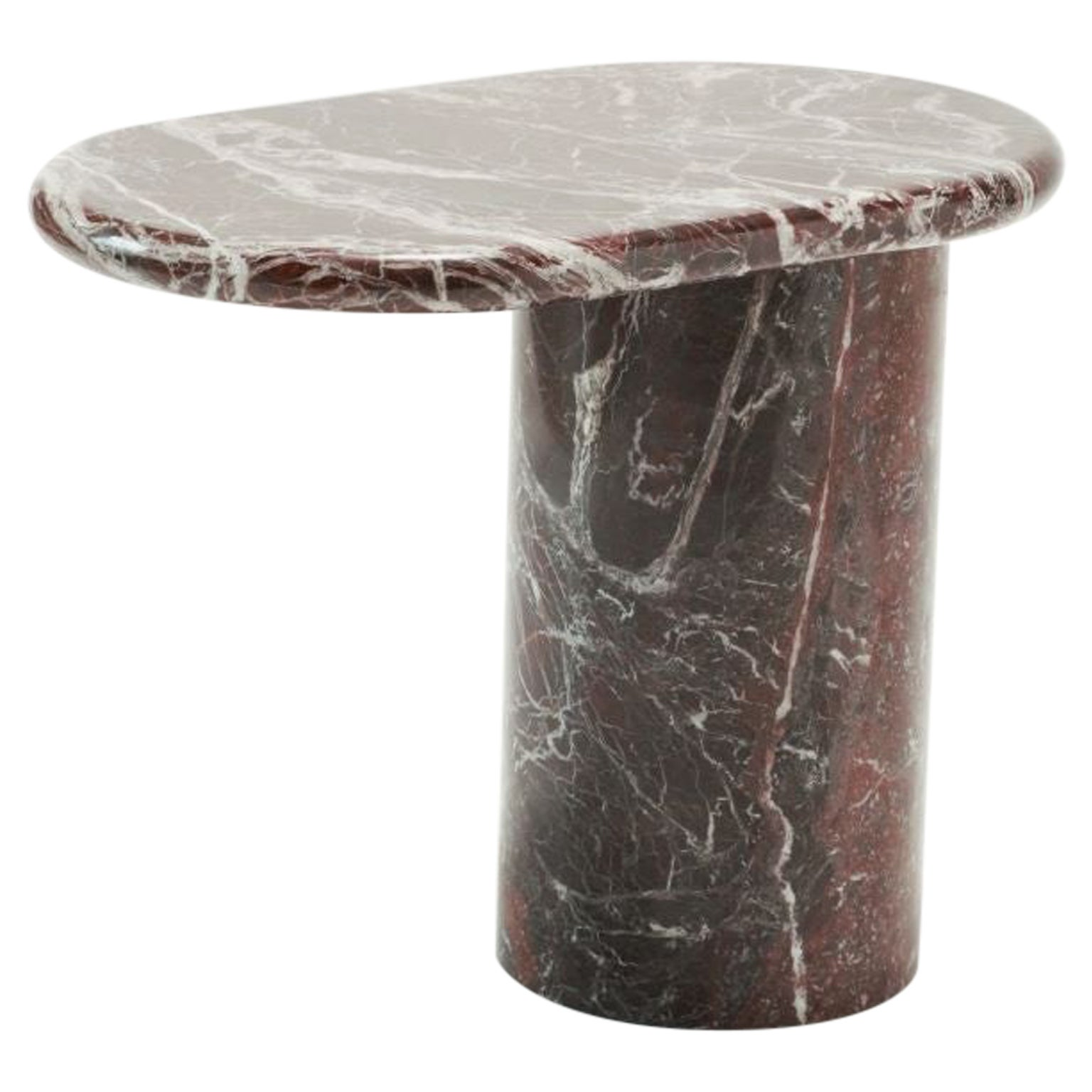 21st Century Matteo Zorzenoni Side Coffee Table Marble Red