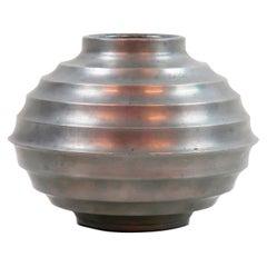 Scandinavian Modern Pewter Vase Made in Sweden 1938, by Unknown Artist