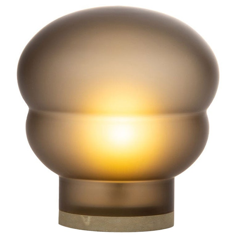 Kumo, Medium, Smoky Grey Acetato, Taupe Base, Lighting, European, Minimal