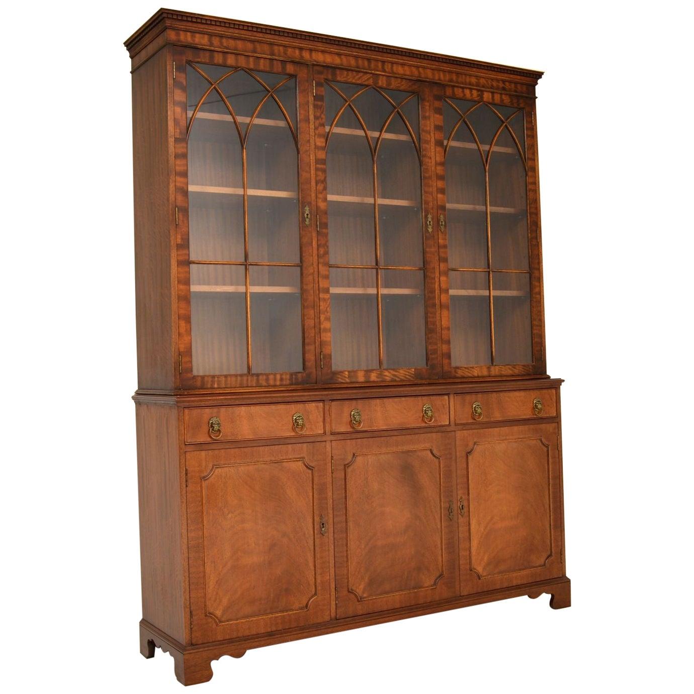 Antique Georgian Style Large Mahogany Bookcase