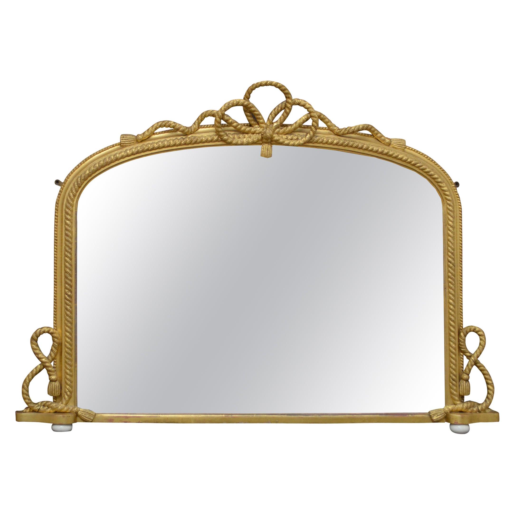 Victorian Giltwood Overmantel Mirror