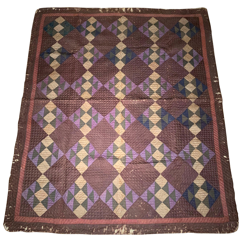 Antique Amish Quilt Blanket