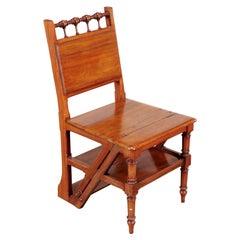 Arts & Crafts Mahogany Metamorphic Library Chair, English, Late 19th Century