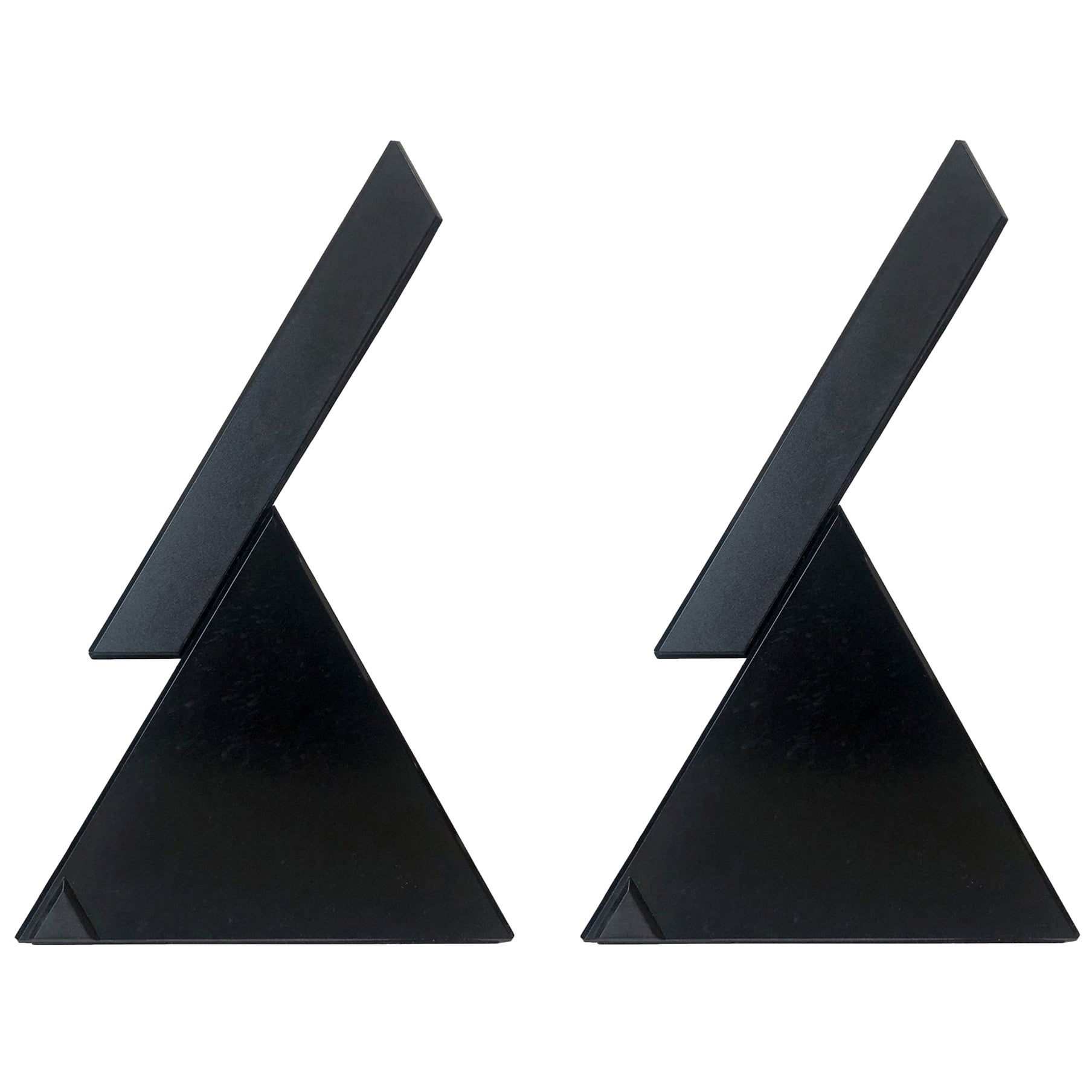"""Postmodern Pair of """"Delta"""" Table Lamps by Mario Bertorelle for JM RDM, 1980s"""