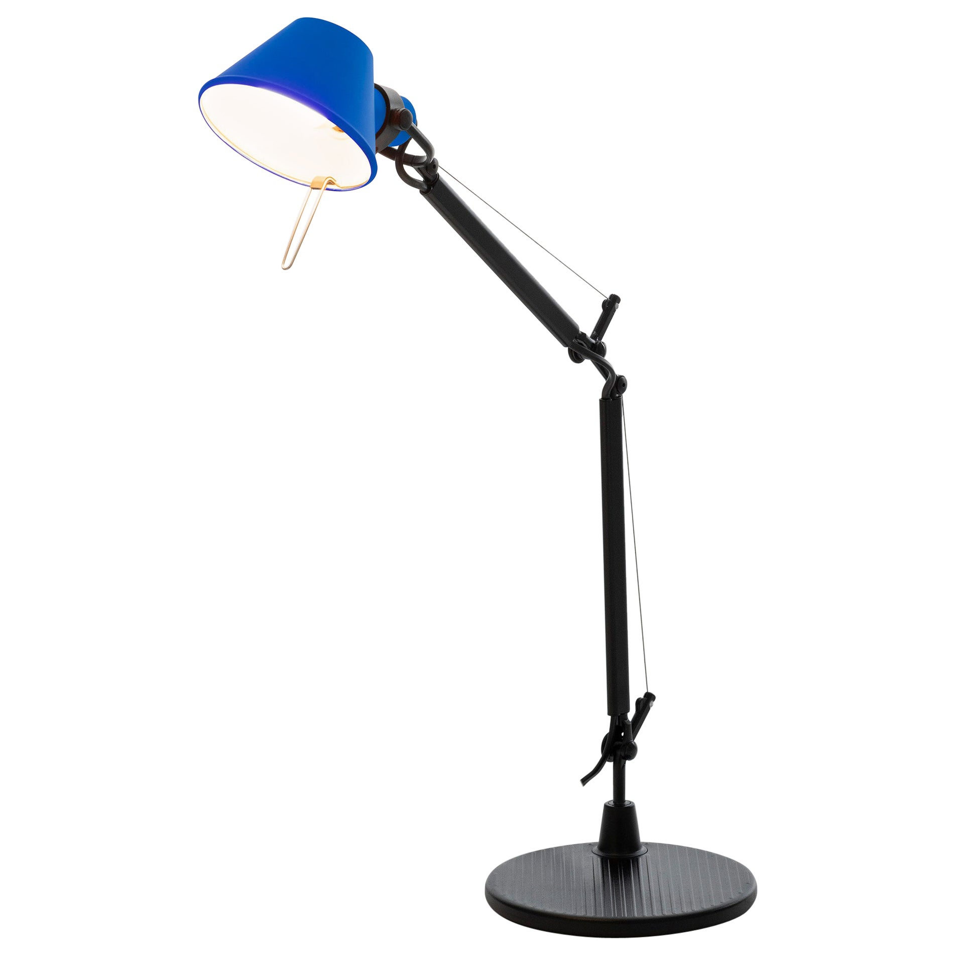 Tolomeo Micro Table Lamp in Black & Blue by Michele de Lucchi & Giancarlo Fassin