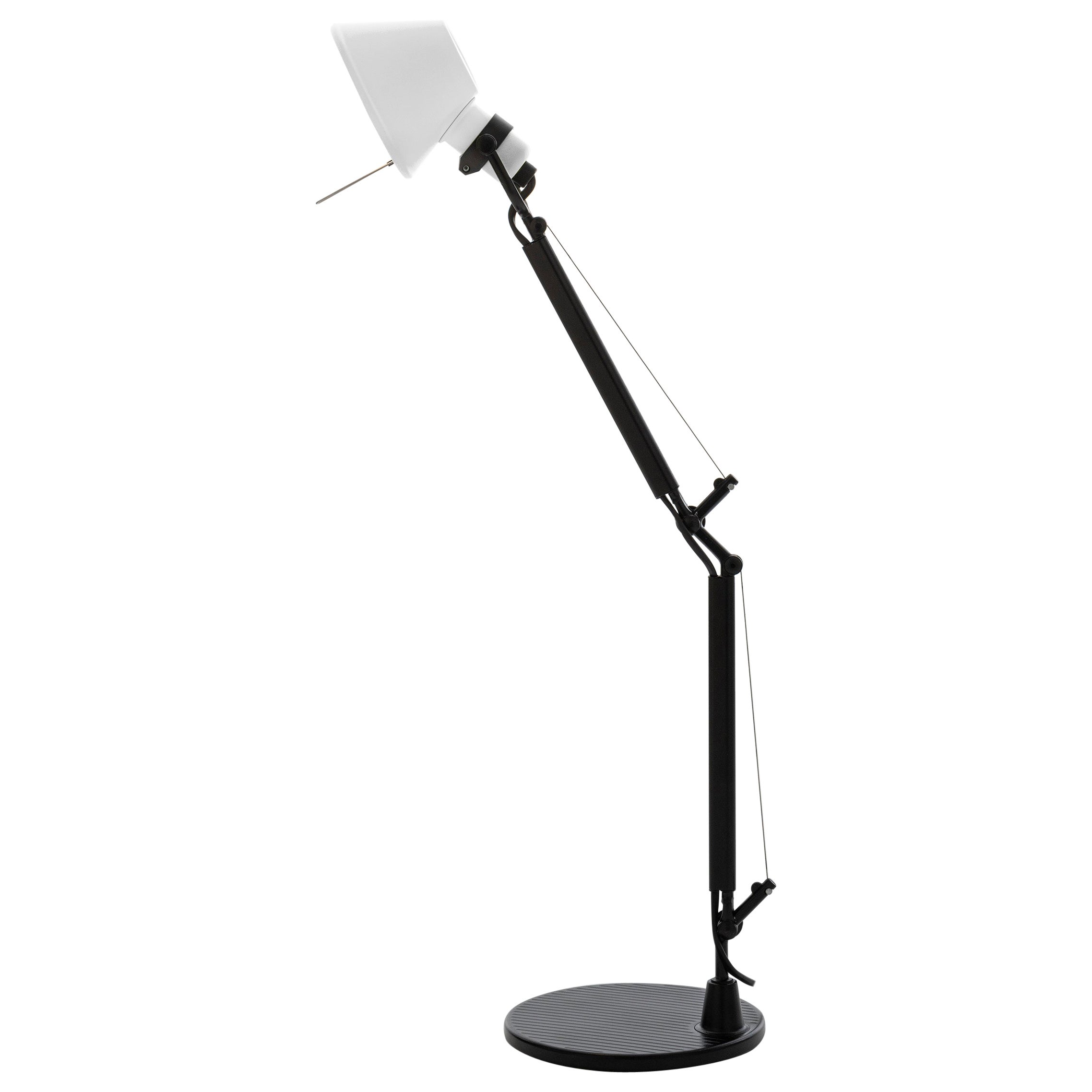 Tolomeo Micro Table Lamp in Black & White by Michele de Lucchi & Giancarlo Fassi