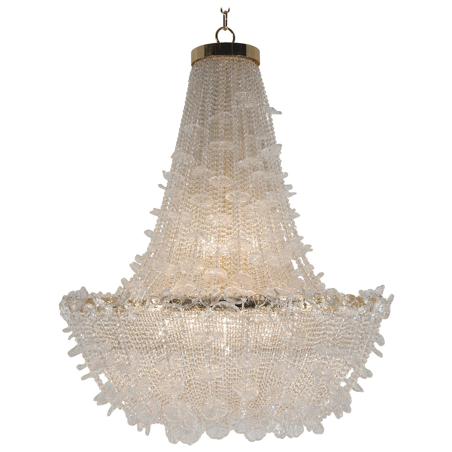 21st Century Margherita Crystal and Blown Glass Chandelier by Patrizia Garganti