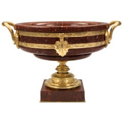French 19th Century Neoclassical Style Marble and Ormolu Tazza