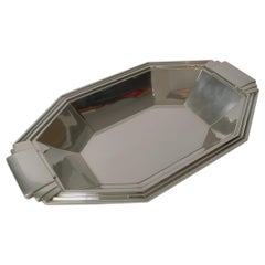 French Silver Plated Art Deco Bread Basket / Bowl by Apollo Orfevrerie