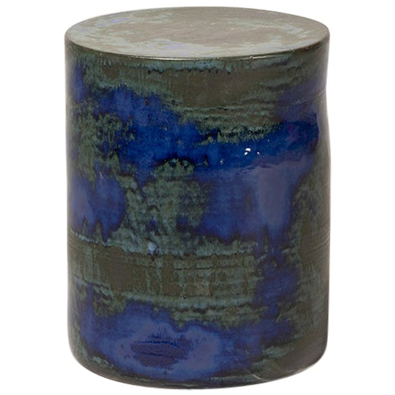 Torn Side Table LA Blue Gray 634