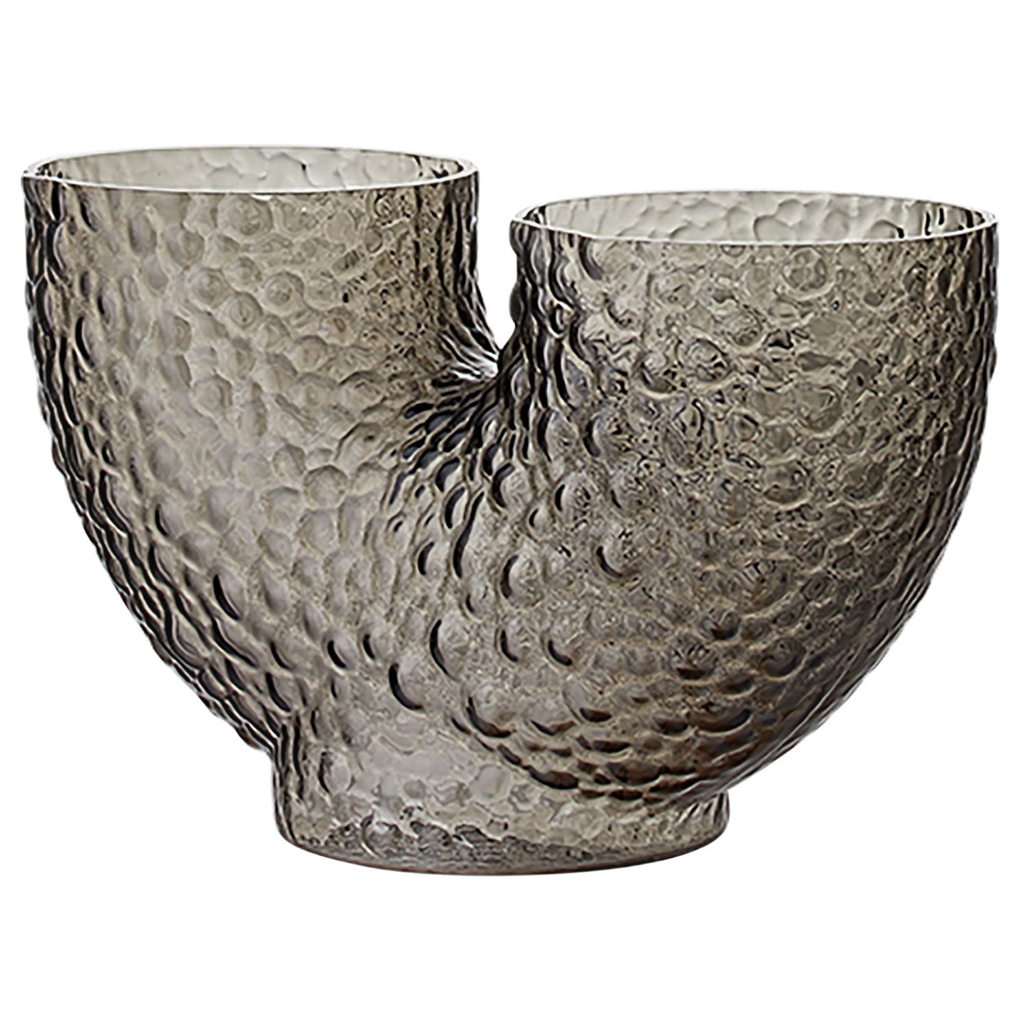 Low Glass Contemporary Vase