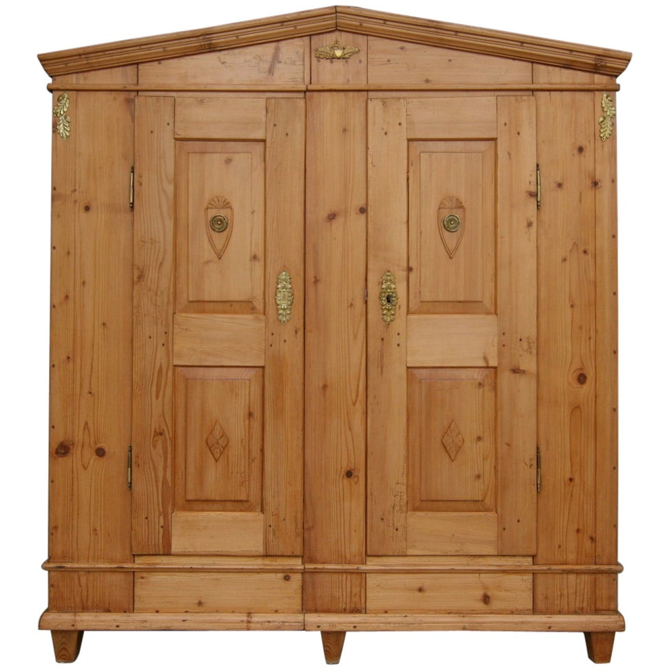 Early 19th Century German Classicism Biedermeier Pine Cabinet