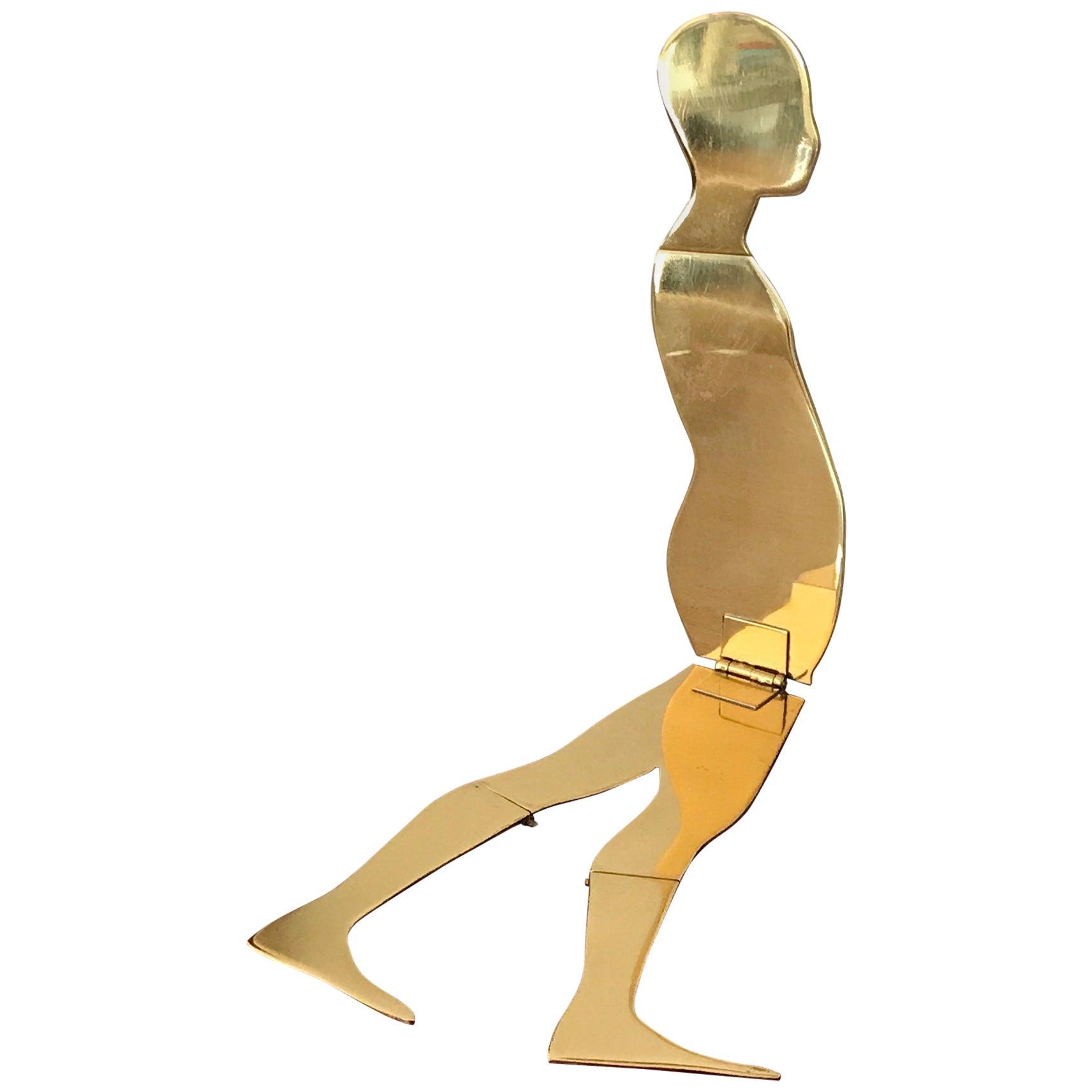 Ernest Trova Brass Folding Man Sculpture